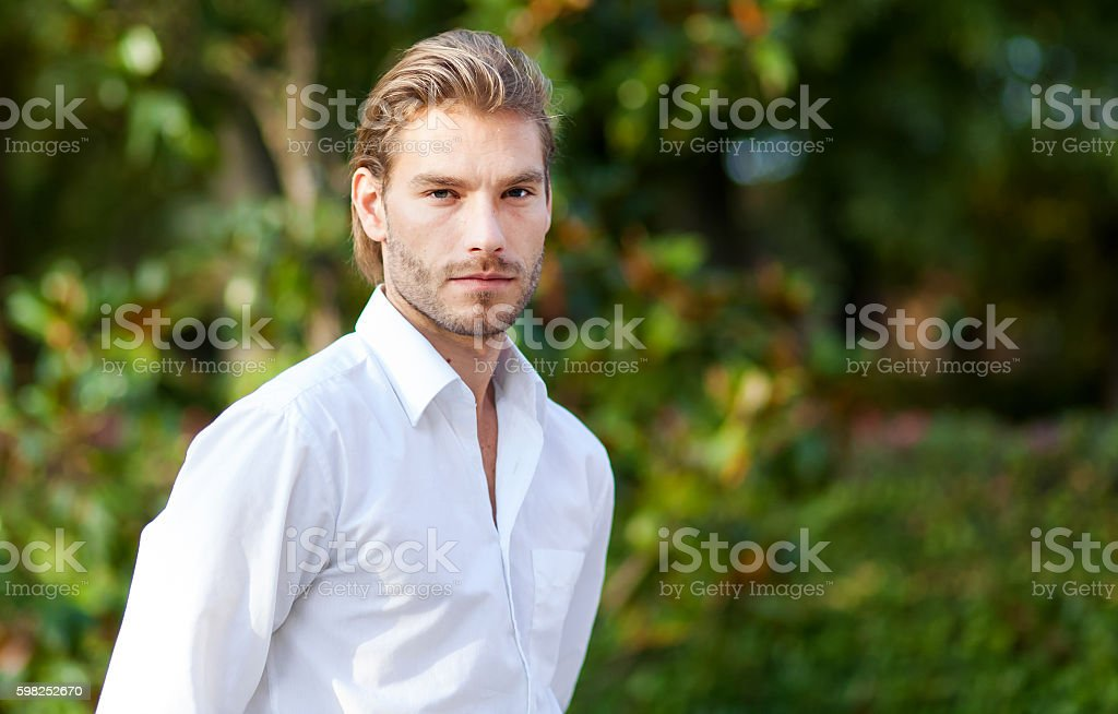 Portrait of a young confident man - foto stock