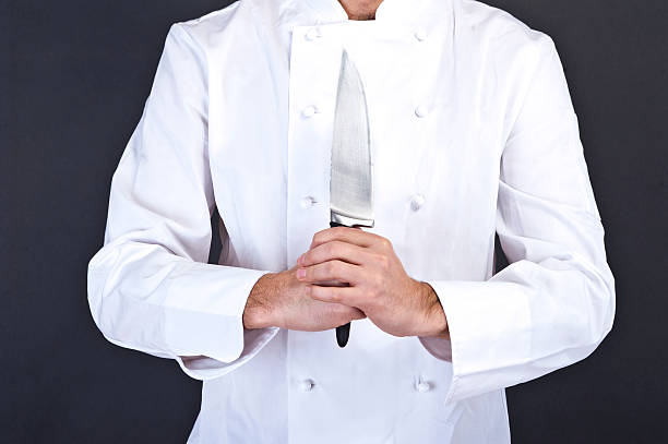 Portrait of a young cook stock photo
