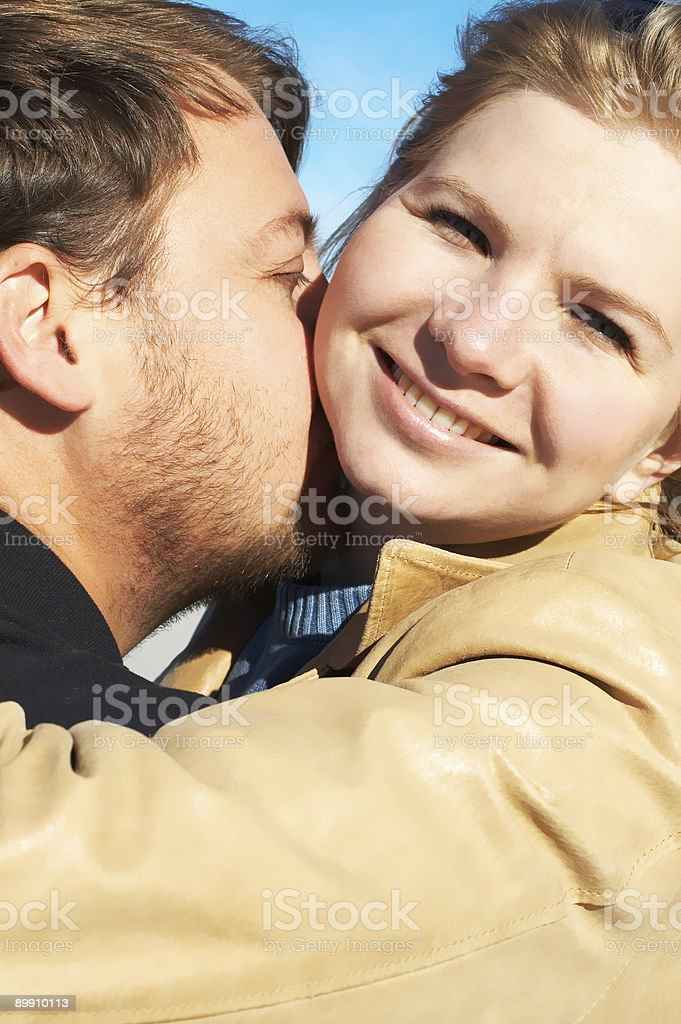 Portrait of a young couple royalty-free stock photo