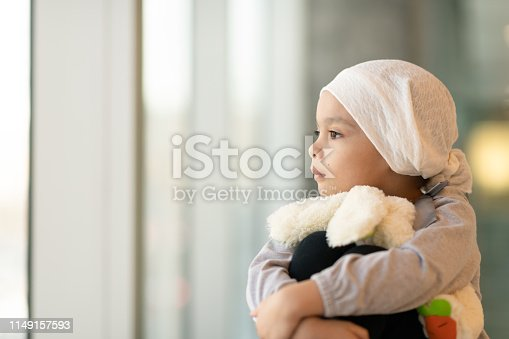 823893962 istock photo Portrait of a young ethnic girl with cancer 1149157593