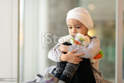 823893962 istock photo Portrait of a young ethnic girl with cancer 1158304405