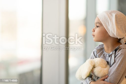 823893962 istock photo Portrait of a young ethnic girl with cancer 1166714885