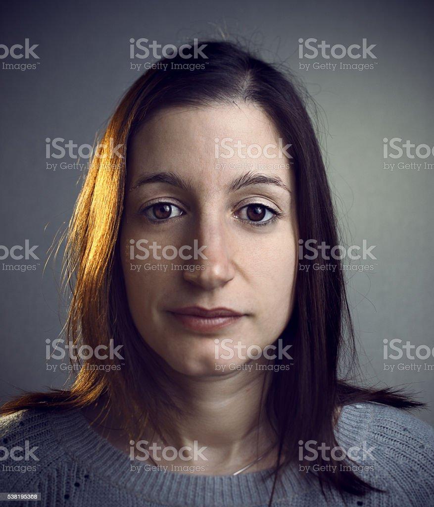 European looking woman