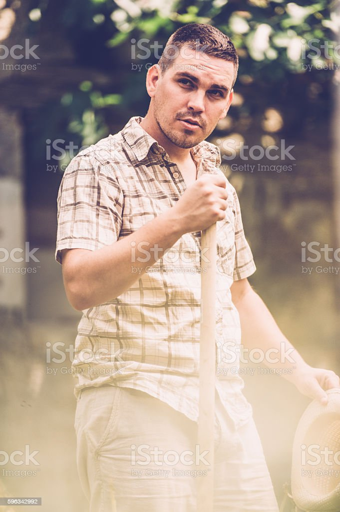 Portrait of a Young Farmer royalty-free stock photo