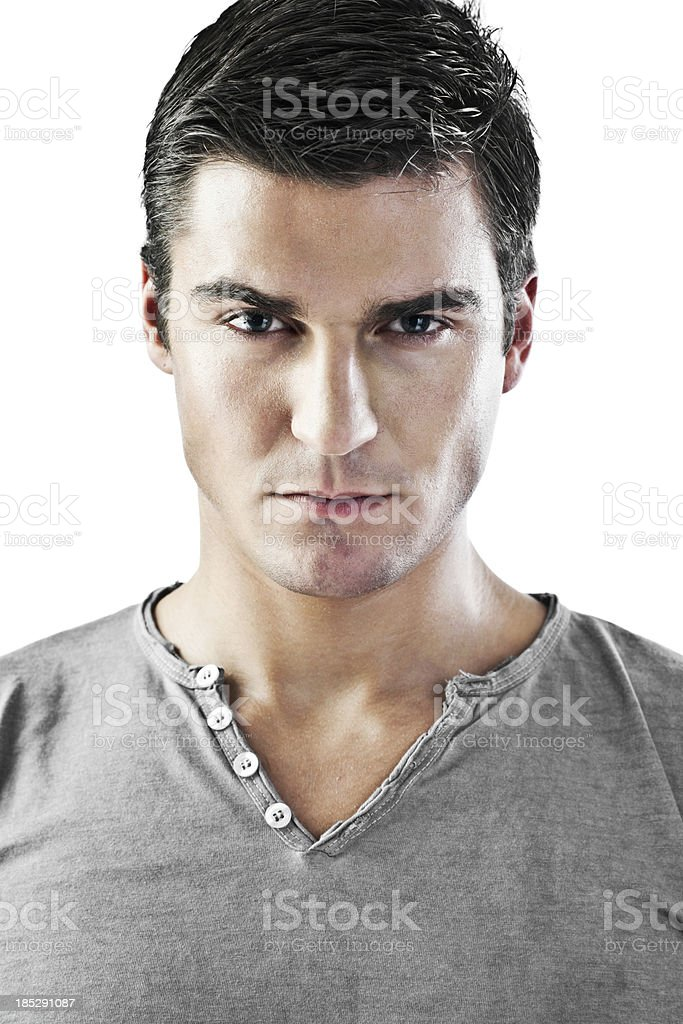 Portrait of a young fashion male model. stock photo