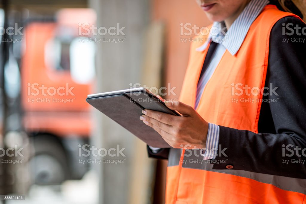 Portrait of a young female supervisor stock photo