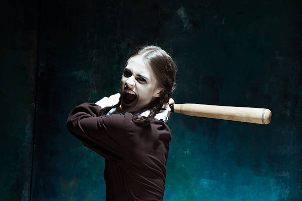 Angry Woman With Baseball Bat Stock Photos, Pictures & Royalty ...