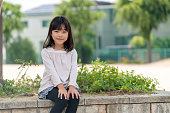 Portrait of a young girl. Okayama, Japan.