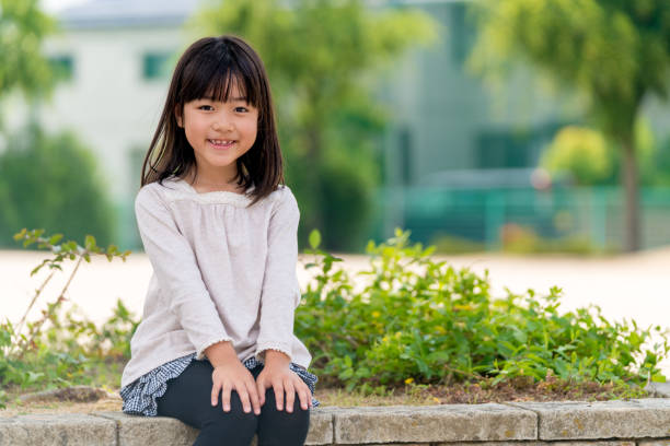 Portrait of a young girl Portrait of a young girl. Okayama, Japan japanese school girl stock pictures, royalty-free photos & images