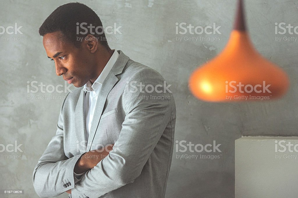 Portrait of a young handsome businessman stock photo