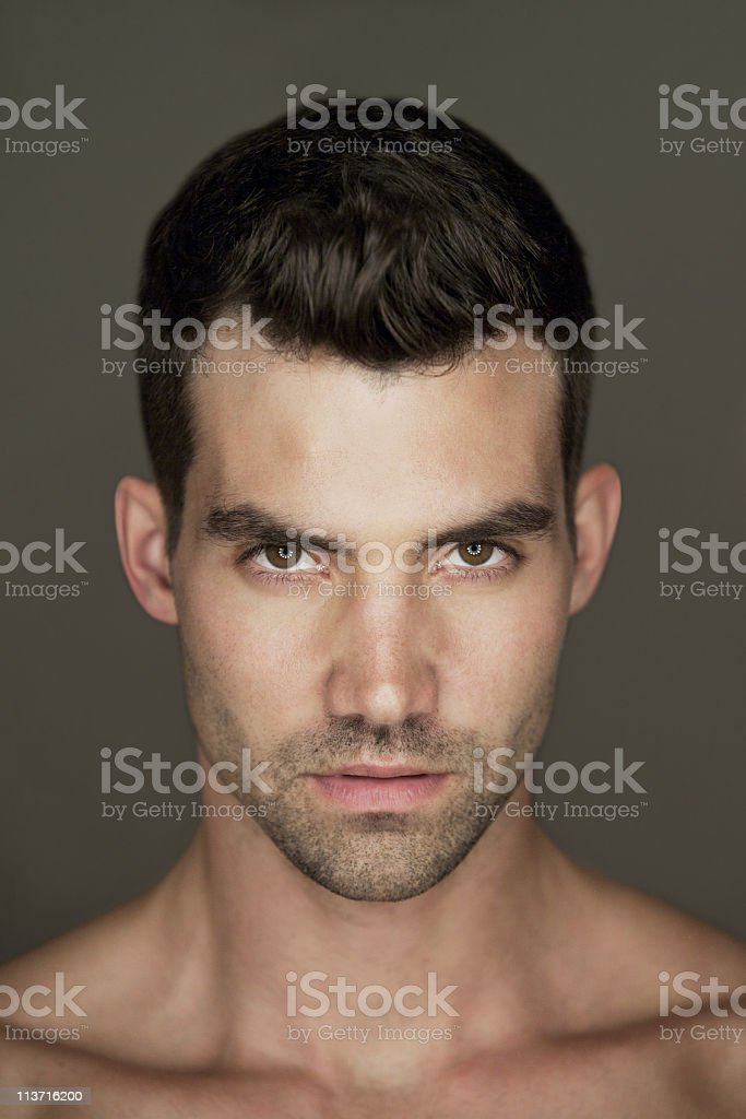 Portrait of a young handsome man stock photo
