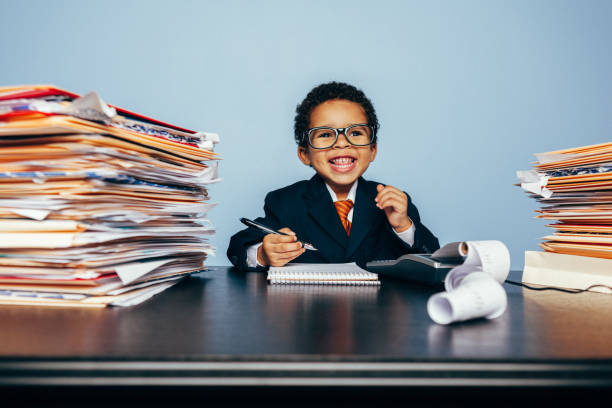 Portrait of a Young Happy Financial Advisor stock photo