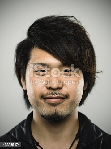 istock Portrait of a young happy japanese man looking at camera 495535474