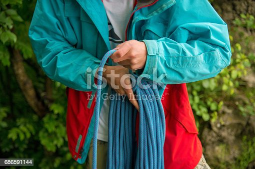 Portrait Of A Young Hipster Training Equipment For Climbing Stock Photo & More Pictures of Adult