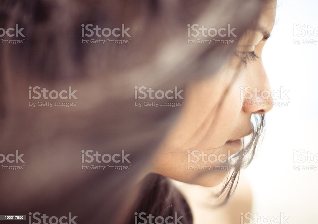 Portrait of a Young Indian Woman royalty-free stock photo