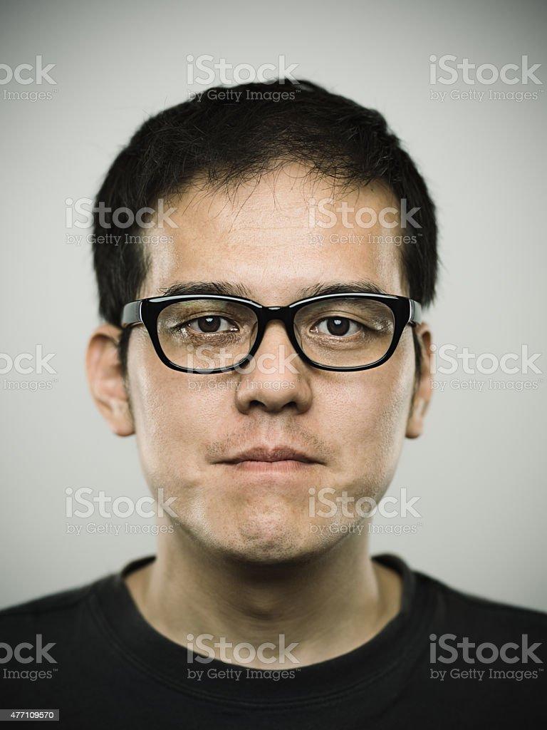 ポートレート、若い男性カメラ目線 ストックフォト