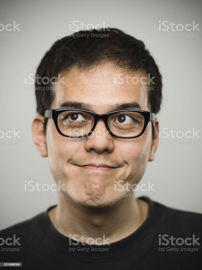 の肖像若い日本人男性ます。 ストックフォト