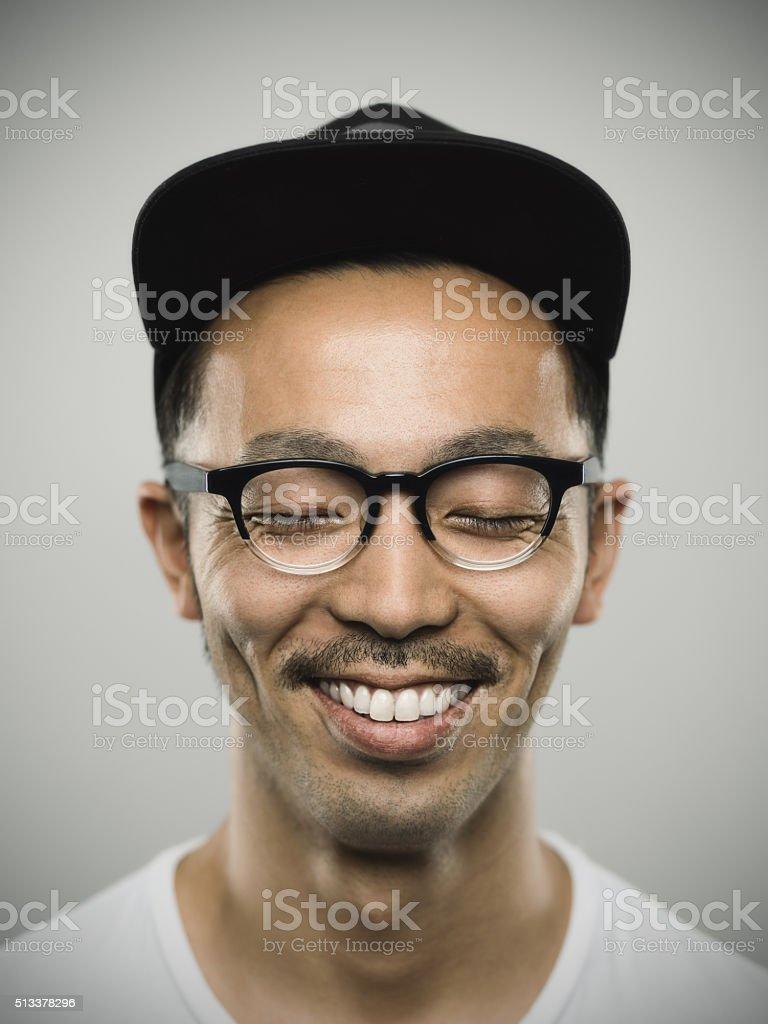 ポートレート、若い男性、満面の笑顔 ストックフォト