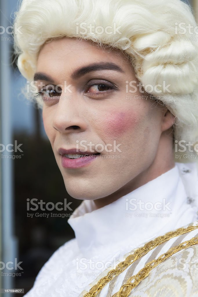 Portrait of a Young Man, 18th Century French Theatrical Costume stock photo