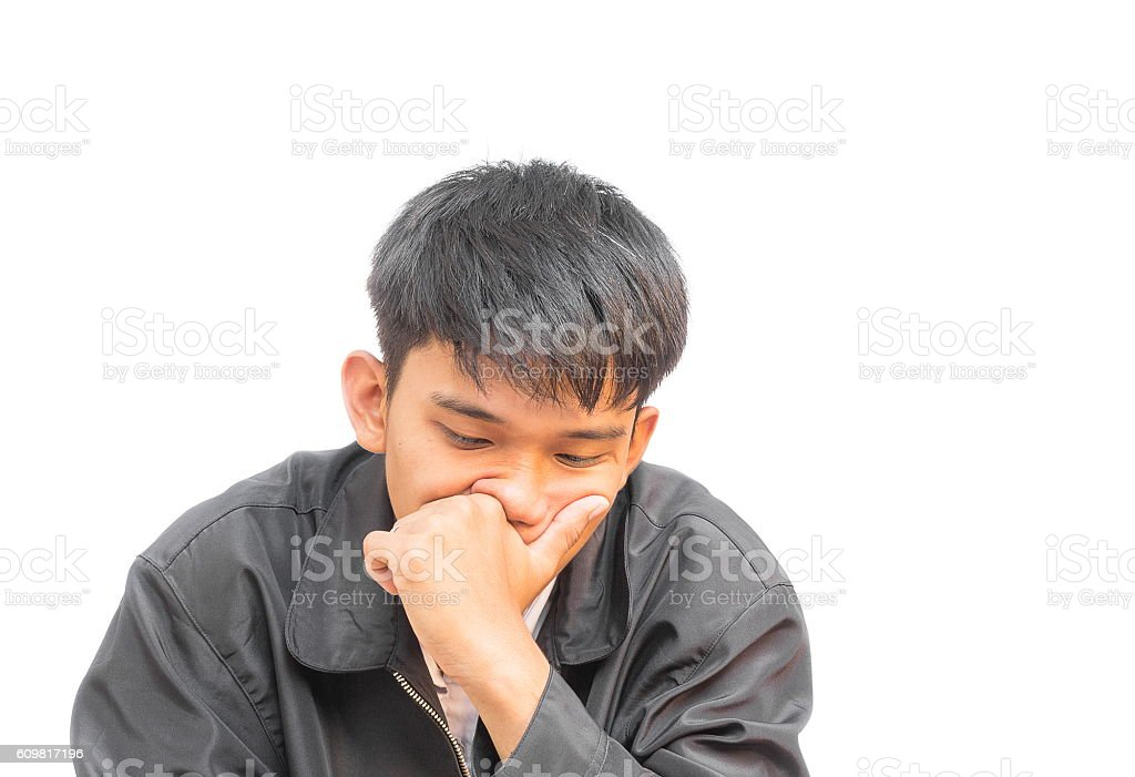 Portrait of a young man Am thinking in business stock photo