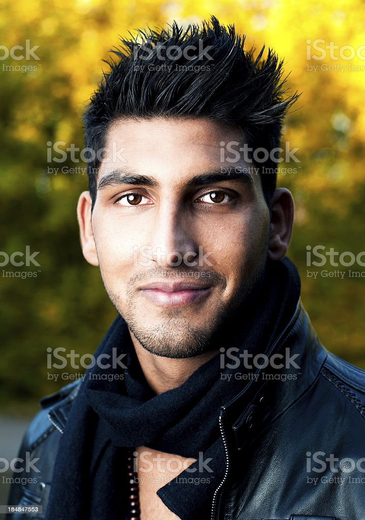 Portrait of a young man from the Middle East stock photo
