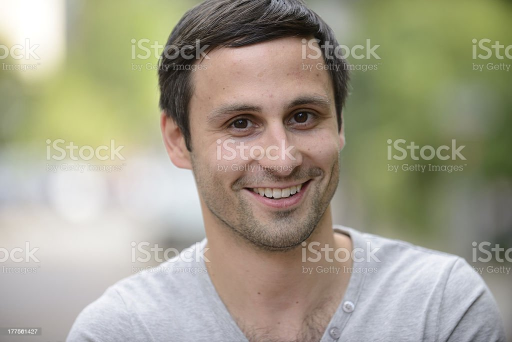 Portrait of a young man royalty-free stock photo