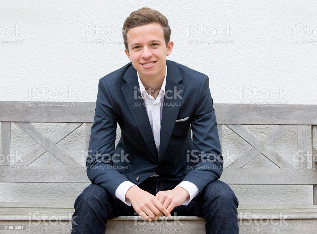 Porträt eines jungen Mannes – Foto
