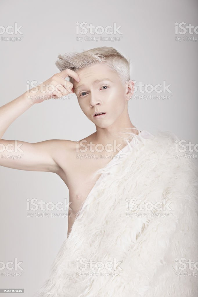 Portrait of a young man. stock photo