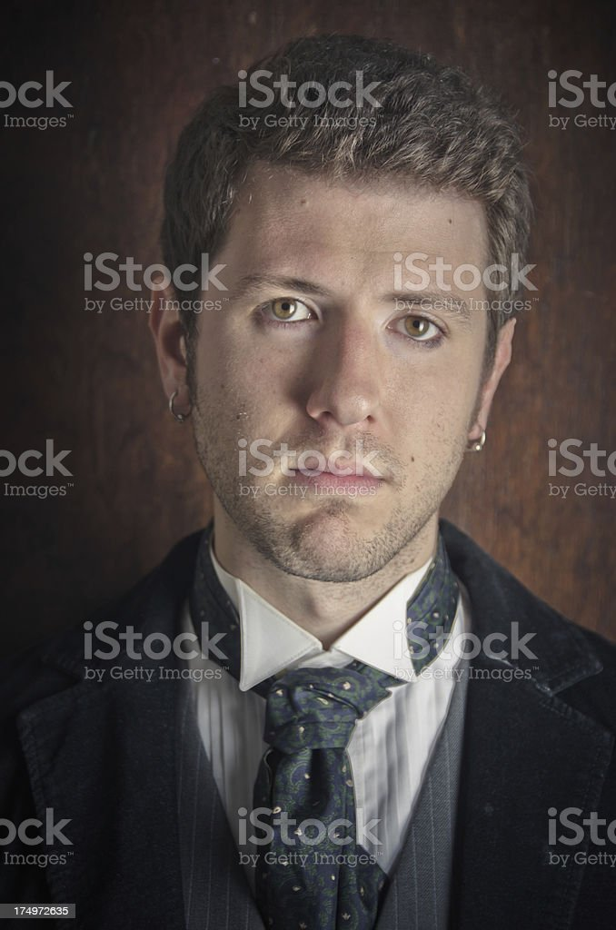 Portrait of a Young Man With Blank Expression royalty-free stock photo