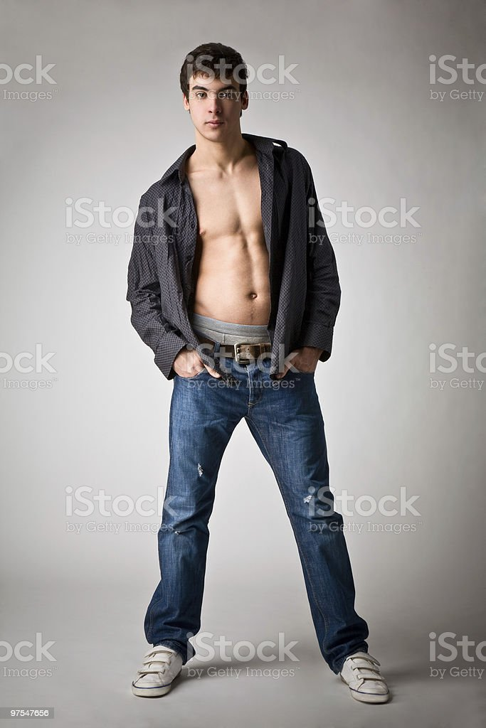 portrait of a young man with unbutton royalty-free stock photo