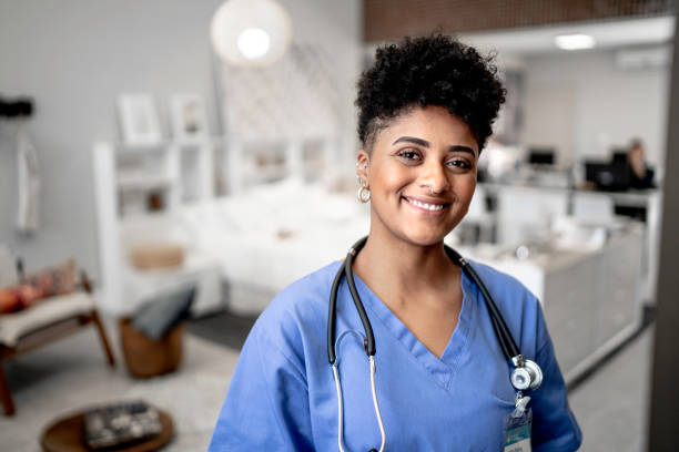 Portrait of a young nurse/doctor stock photo