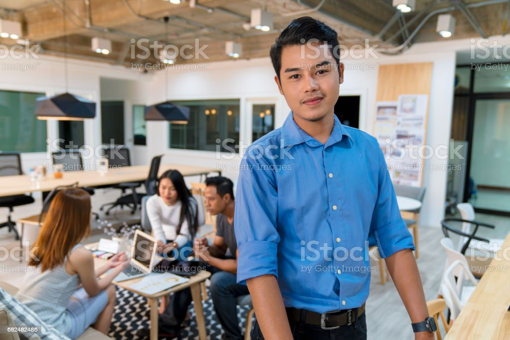 Portrait of a young office worker royalty-free stock photo