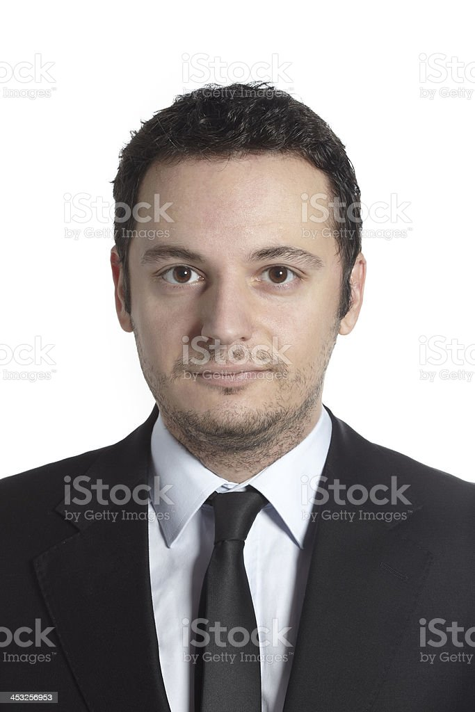 Portrait of a young professional man. stock photo