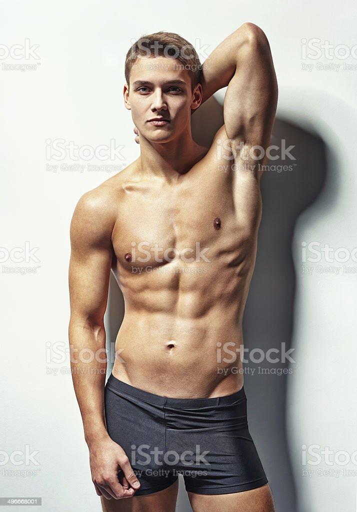 Porträt von eine junge sexy Muskel Mann – Foto