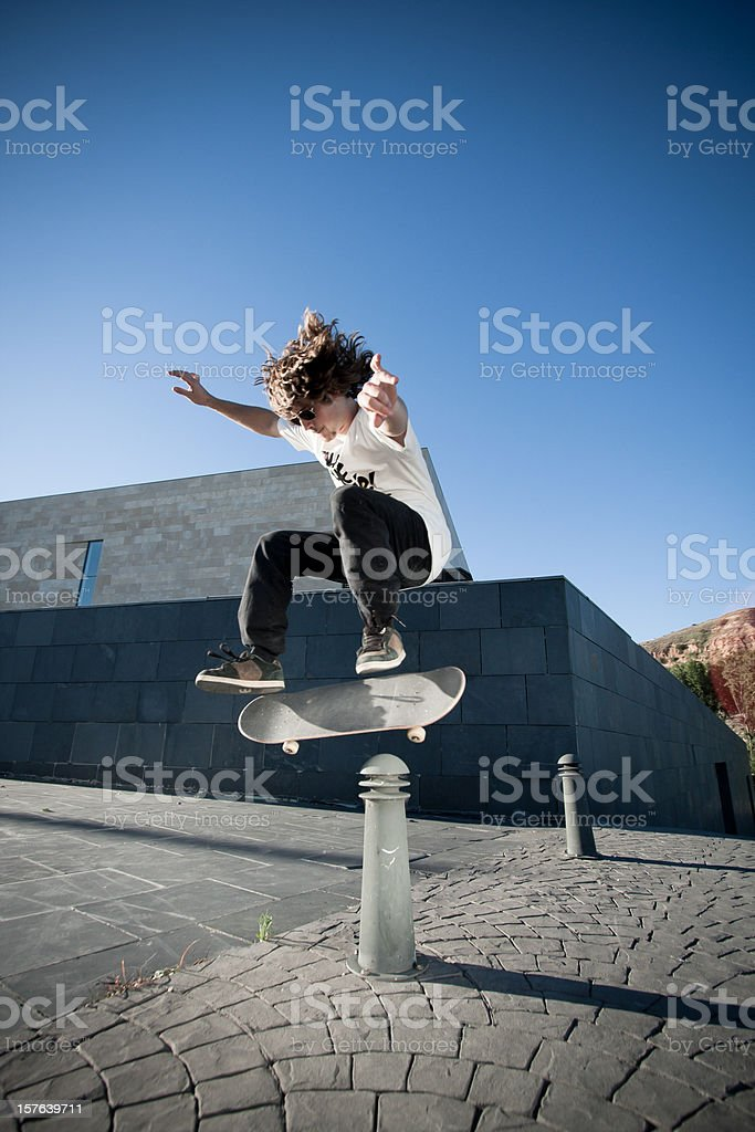 Portrait of a young skateboarder. royalty-free stock photo