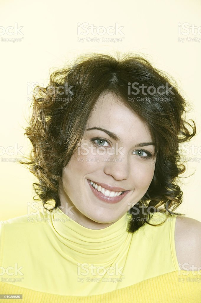 portrait of a young smiling woman royalty-free stock photo