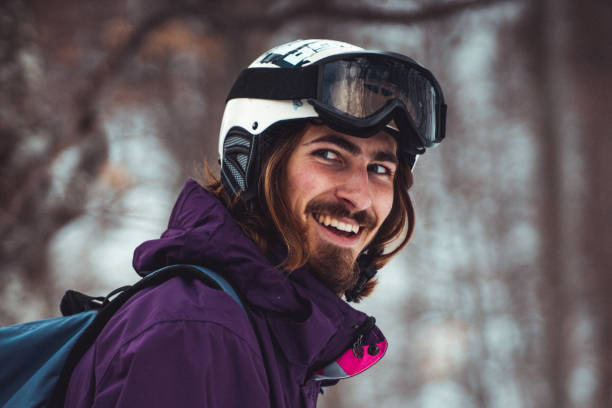 Portrait of a young snowboarder stock photo stock photo