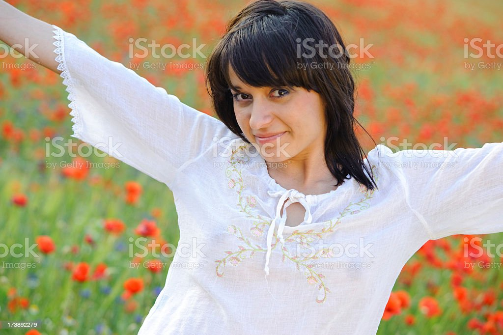 portrait of a young Spanish woman royalty-free stock photo