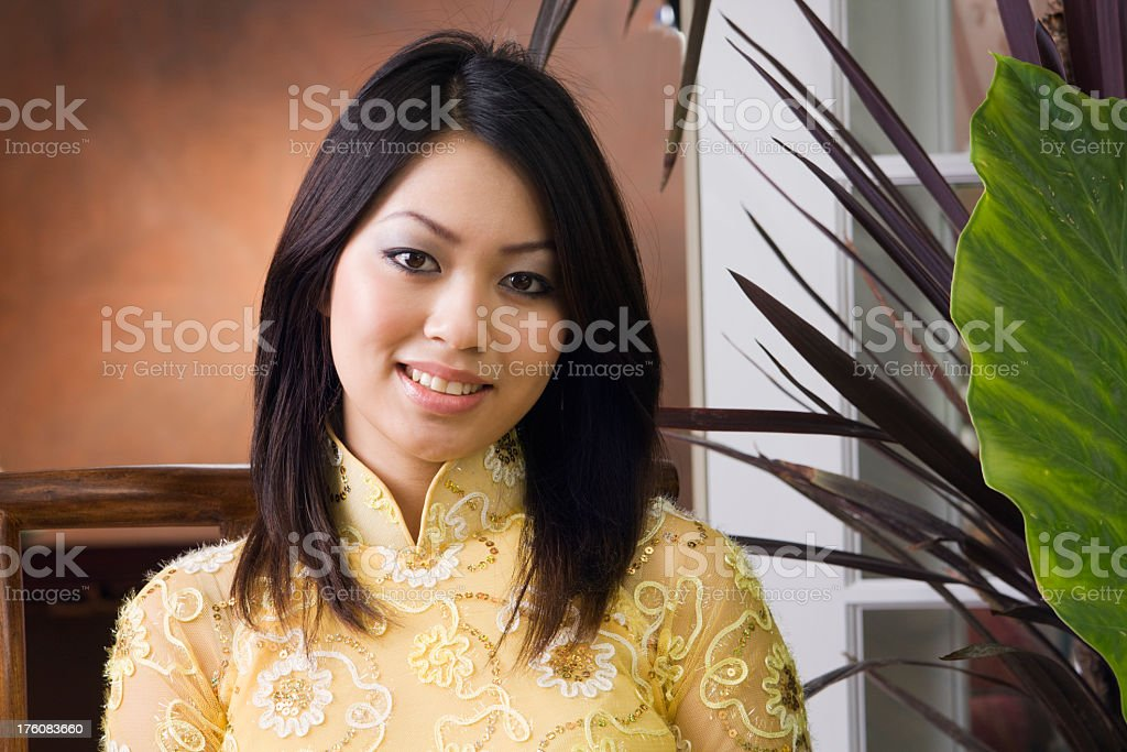 Portrait of a Young Vietnamese Girl royalty-free stock photo