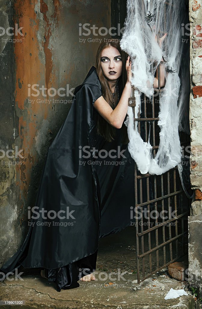 Portrait of a young witch royalty-free stock photo