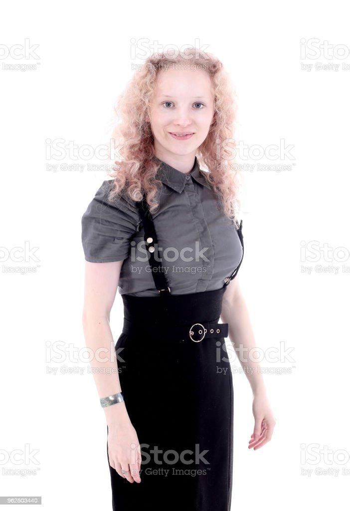 retrato de um jovem funcionário .isolated em branco - Foto de stock de Adulto royalty-free