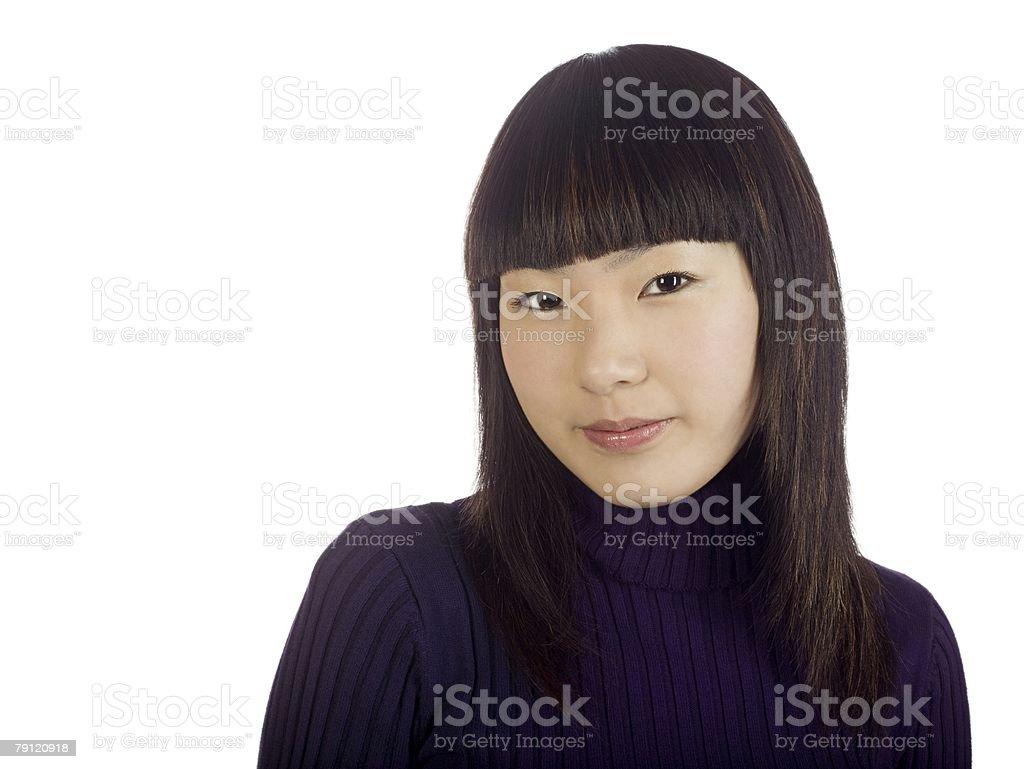 세로는 젊은 여자 royalty-free 스톡 사진