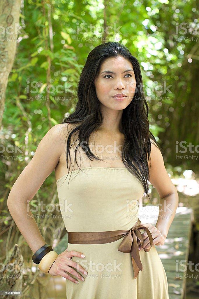た若い女性のポートレート ロイヤリティフリーストックフォト