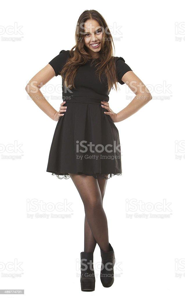 online retailer d150d e467b Ritratto Di Una Giovane Donna Sorridente In Elegante Abito ...