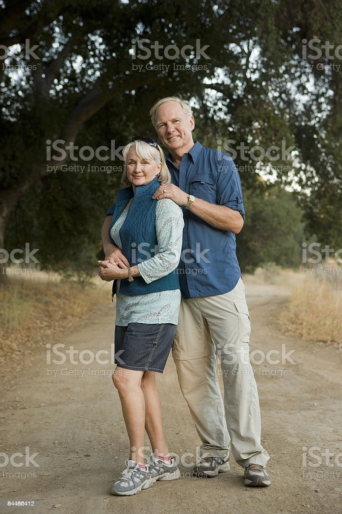 Portrait of active mature couple outdoors. royalty-free stock photo