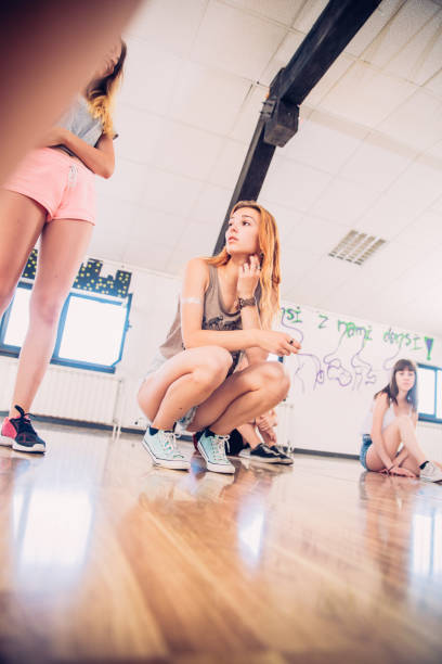Portrait of Active Teenage Girl stock photo