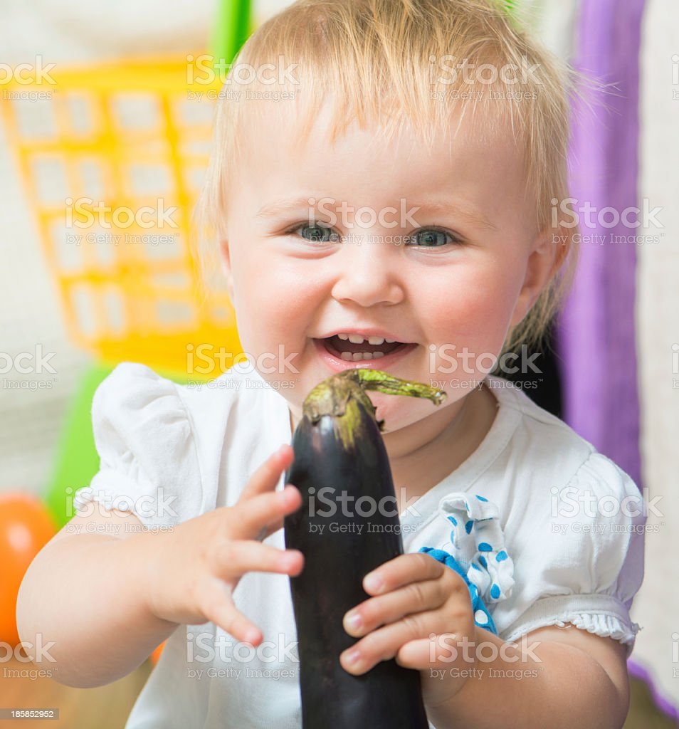 portrait of adorable baby royalty-free stock photo