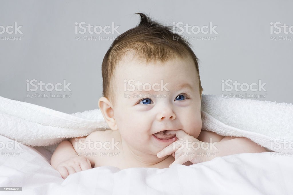 Portrait of adorable infant royalty-free stock photo