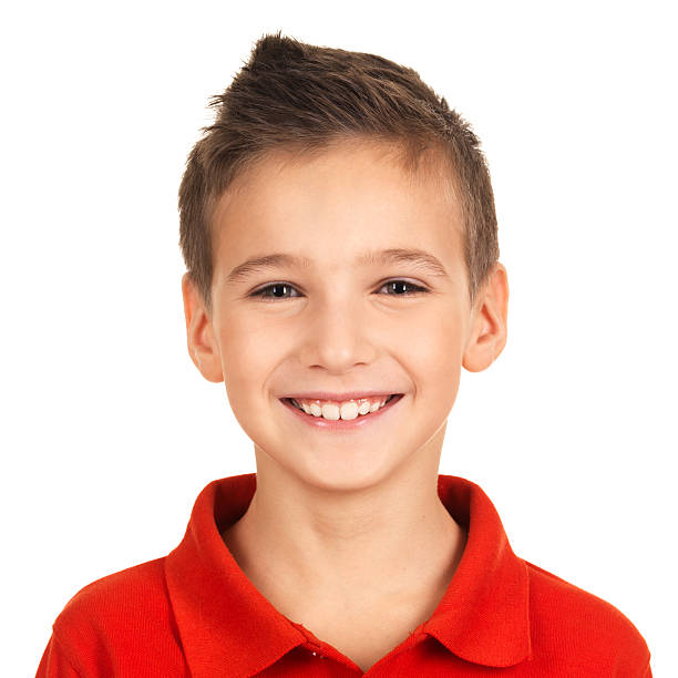 Portrait of adorable young happy boy Photo of adorable young happy boy looking at camera. 8 9 years stock pictures, royalty-free photos & images