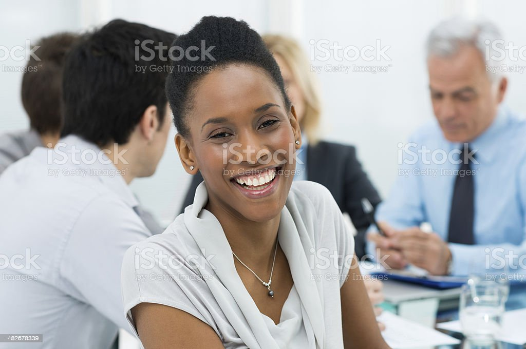 Portrait Of African American Businesswoman royalty-free stock photo